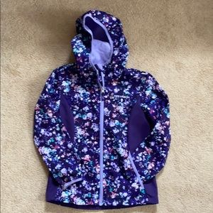 Girls Free Country Purple Floral Hooded Jacket